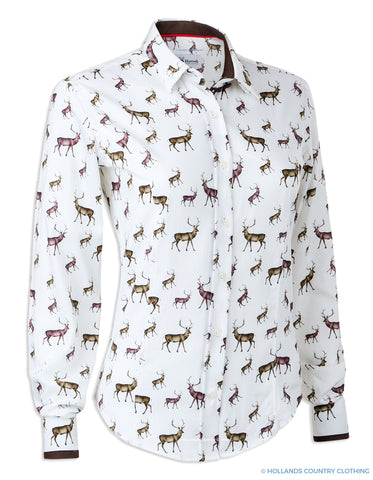 Hartwell Layla Ladies Cotton Country Shirt | Stags