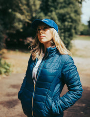 blue with fur collar Sporting Hares Alderbury Quilted Jacket