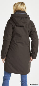 close up back view Didriksons Eline Padded Waterproof Parka