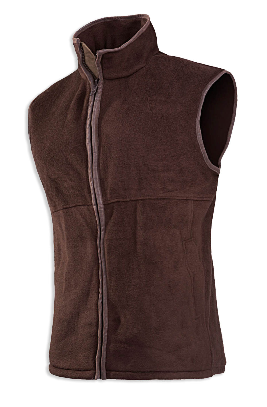 chocolate Baleno Sally Ladies Fleece Gilet