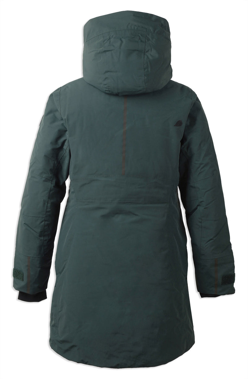 Back Didriksons Silje Padded Waterproof Parka north sea green