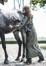 Ladies long waterproof coat for Horse riders