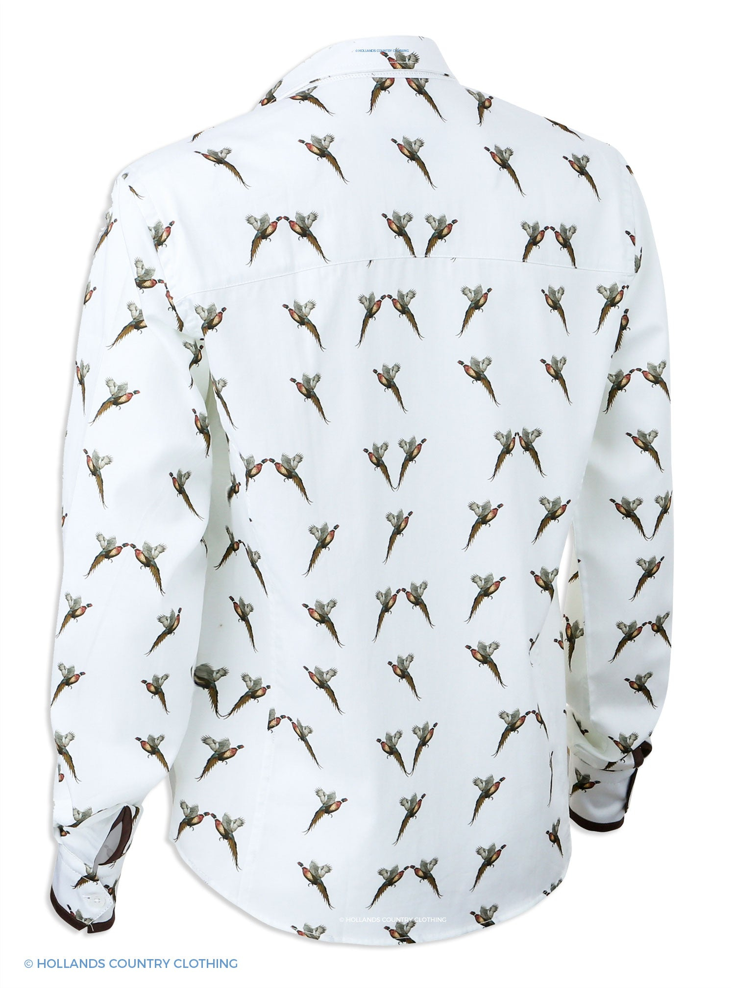 rear view Hartwell Layla Cotton Shirt | Flying Pheasants