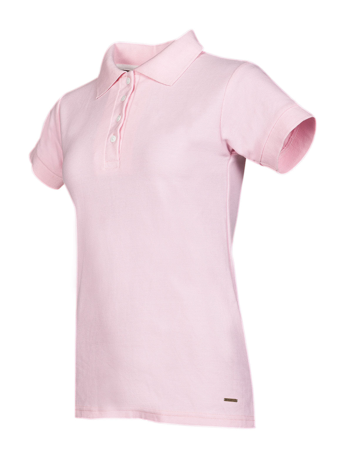 Ladies Short Sleeve Summer Polo Shirt by Baleno in Pink