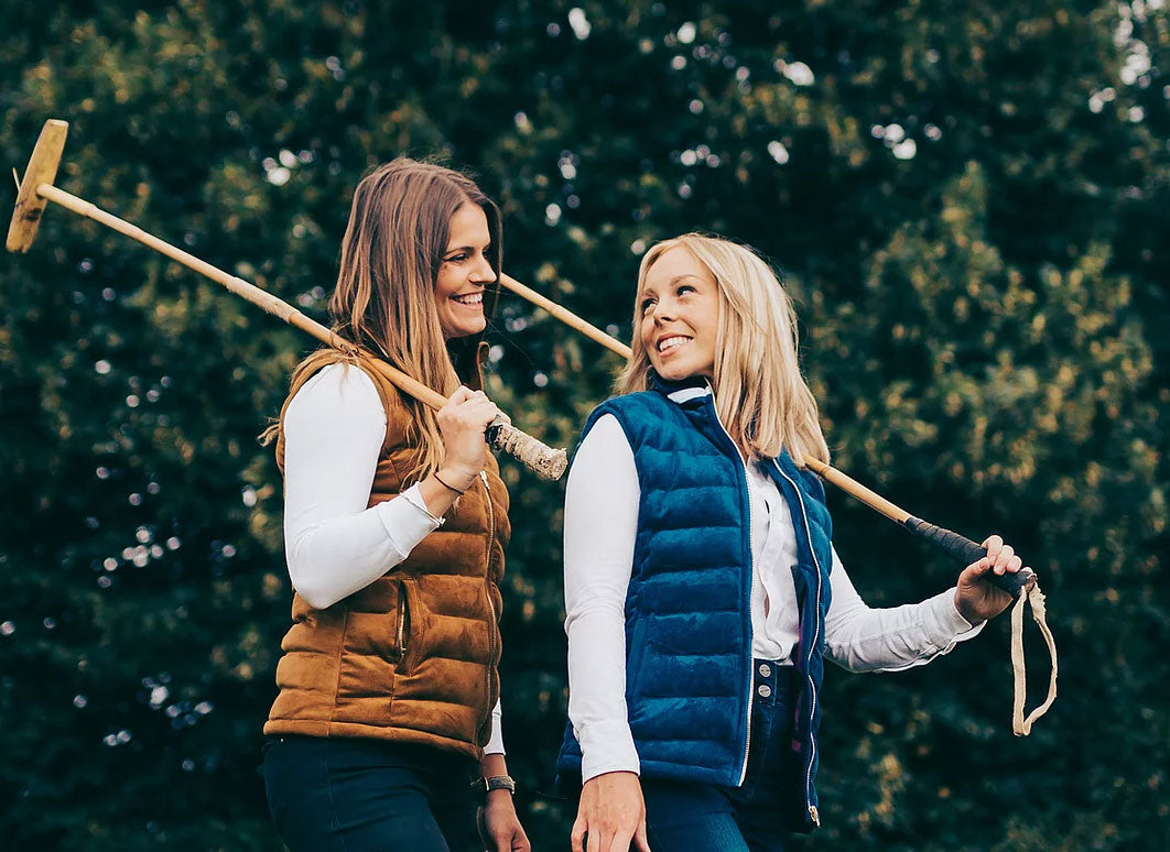 two ladies wear Windermere Ladies Gilet by Sporting Hares