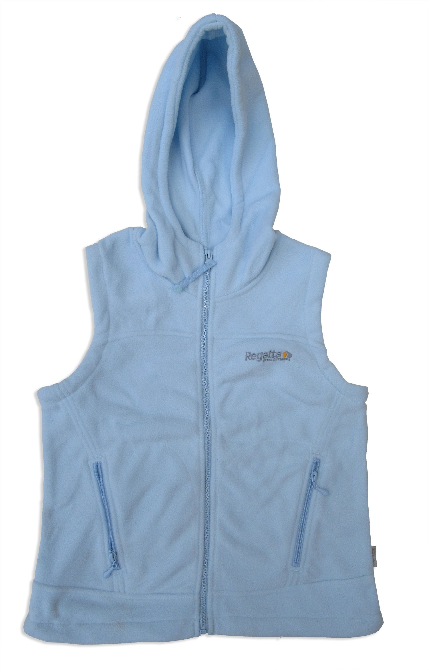 sky blue hooded fleece