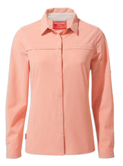 Rosette pink Ladies Pro II Shirt by Craghoppers