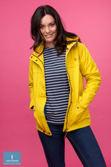 open showing lining Beaufort Waterproof Jacket by Lighthouse