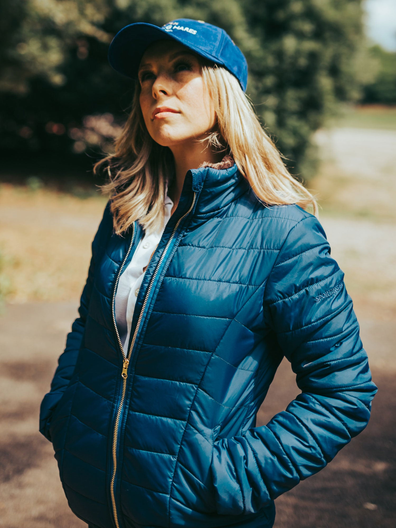 Sporting Hares Alderbury Quilted Jacket minight blue