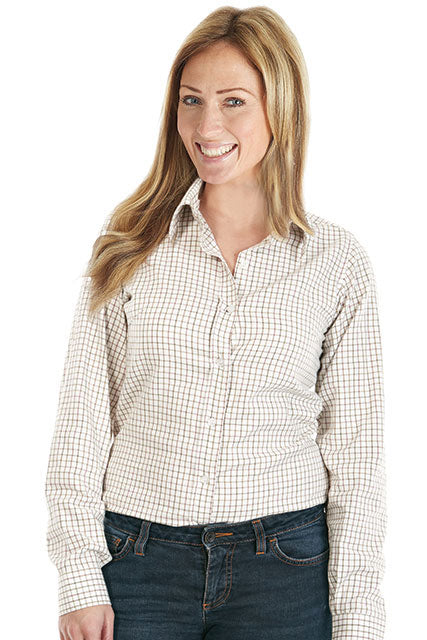 Ladies Classic Tattersall Shirt by Sherwood forest