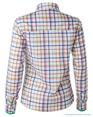 Back view Hartwell Layla Cotton Shirt | Country Check Bright Tattersall