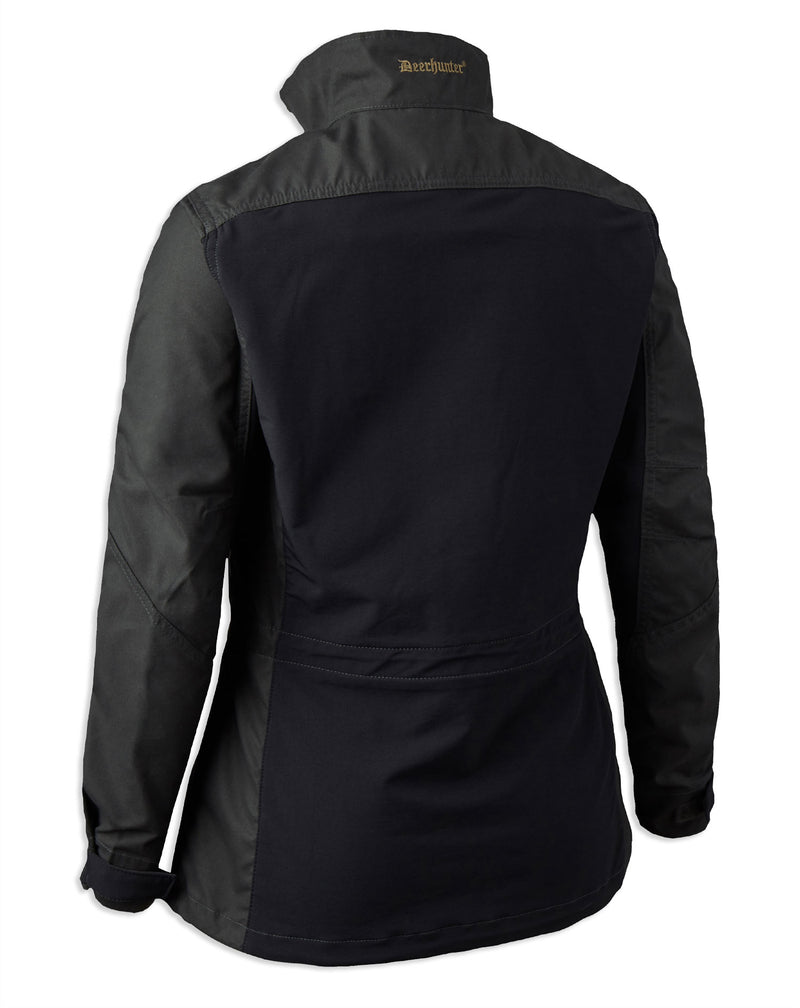 Rear view Deerhunter Lady Ann Jacket in Black Ink