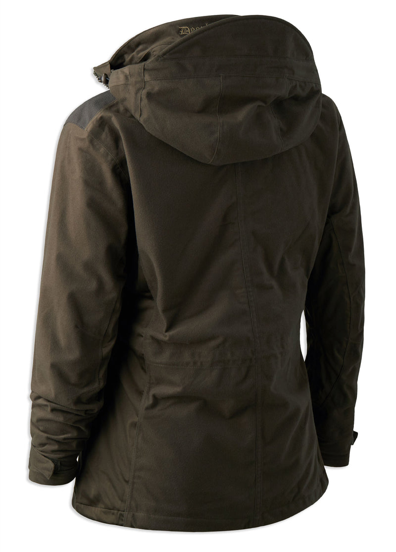 rear view Lady Christine Waterproof Jacket by Deerhunter