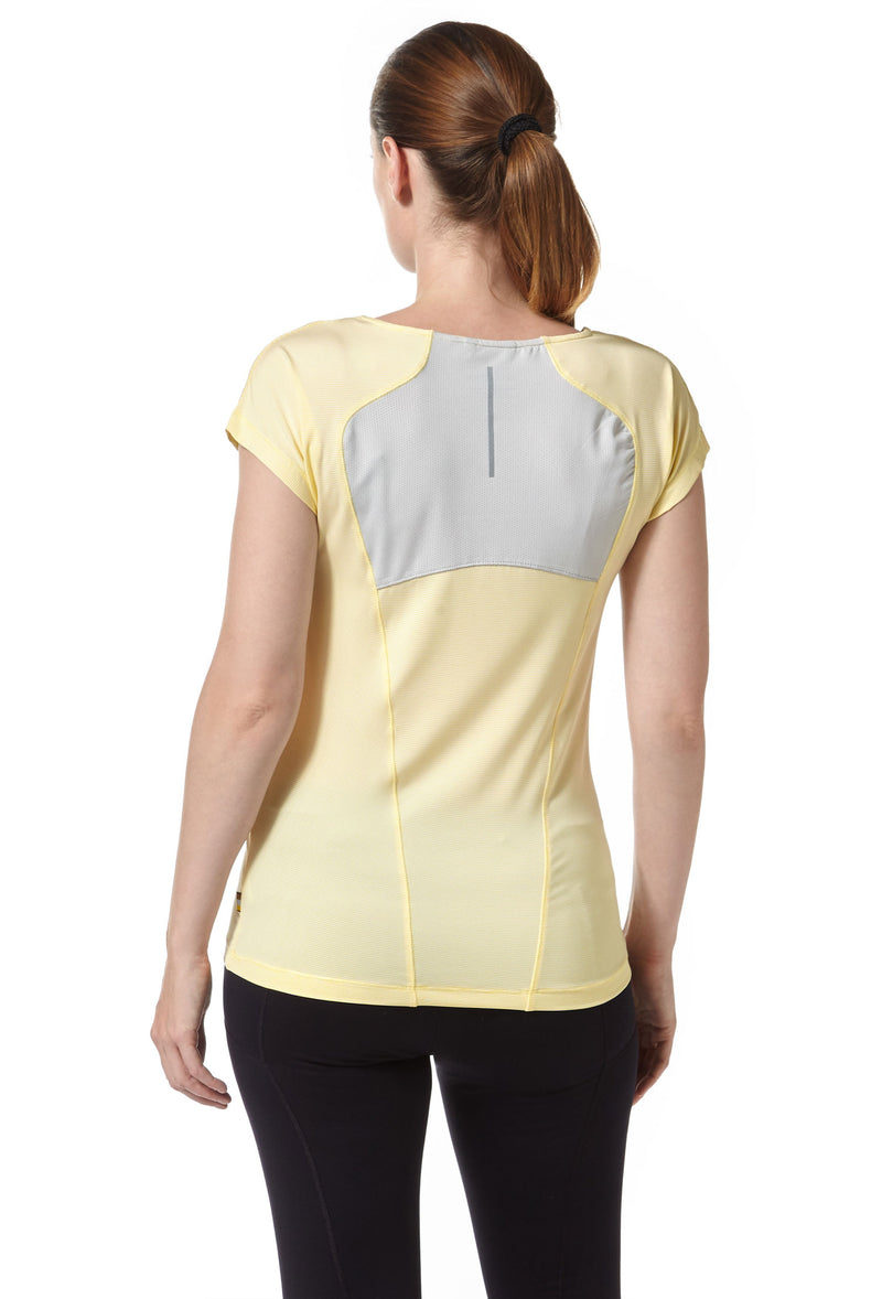Rear view Craghoppers Fusion T-Shirt Buttercup Yellow