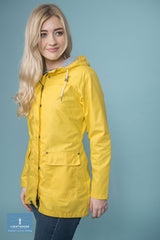 Lighthouse Bowline Rubberised Jacket in Pink, Navy and Yellow