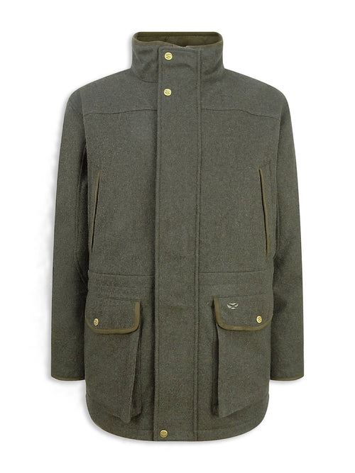 Hoggs of Fife Lairg Waterproof Wool Jacket Dark Olive