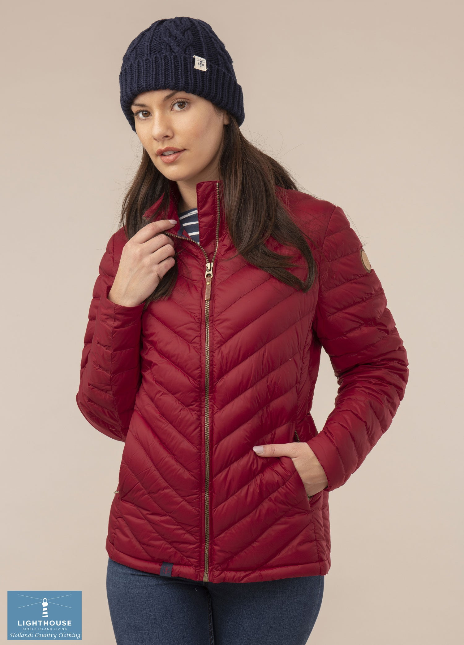 Down quilted Ladies Lighthouse Lara Down Jacket Deep Red