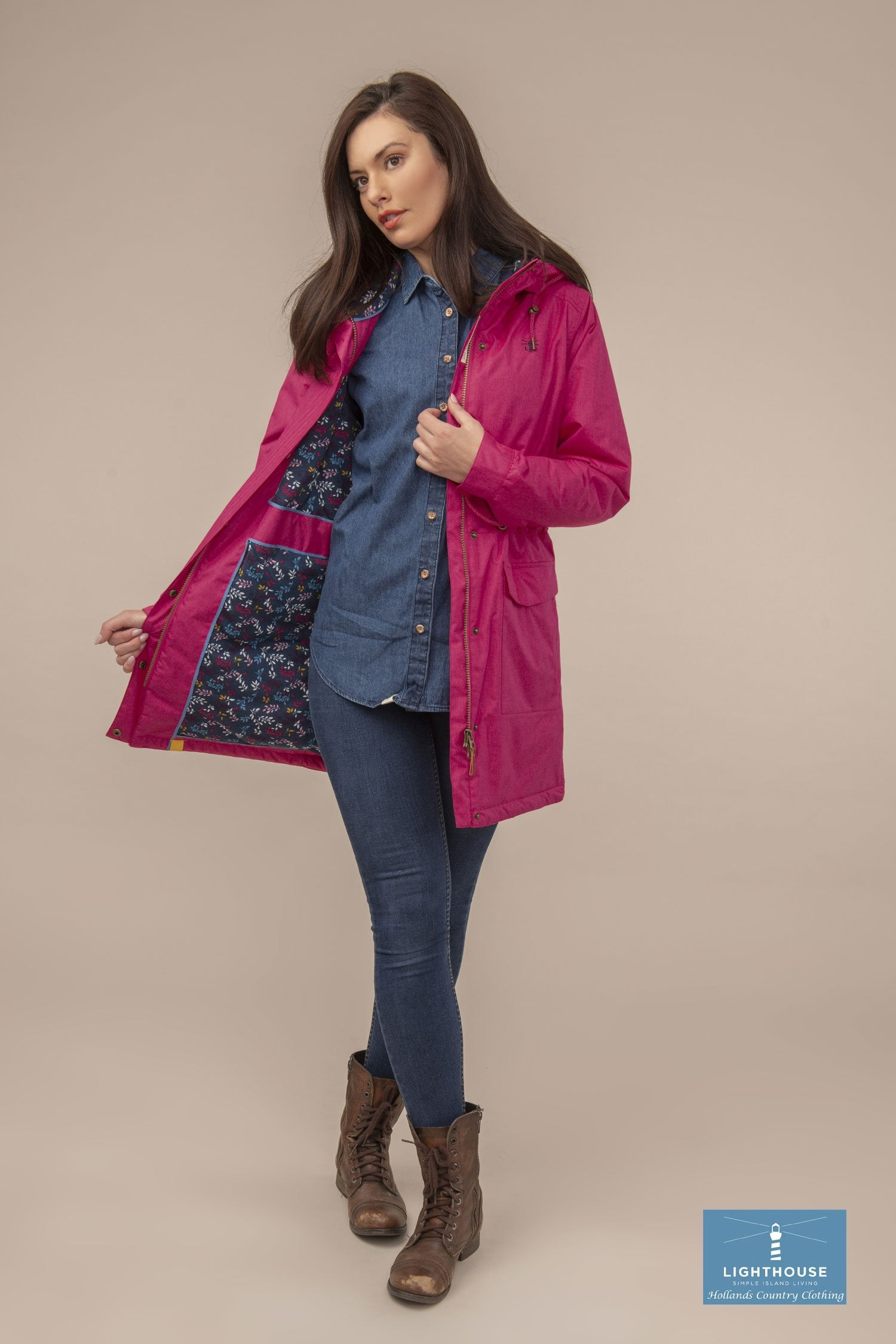 Lauren Quilted Padded Waterproof Coat by Lighthouse