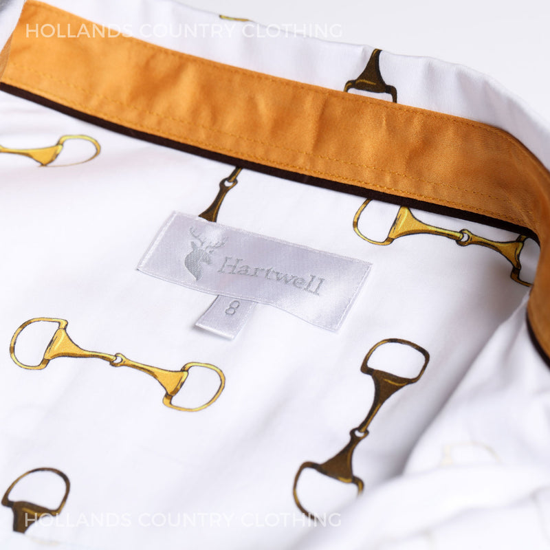 Hartwell shirt collar label