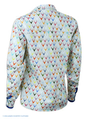 rear view Hartwell Layla Cotton Shirt | Colourful Stags