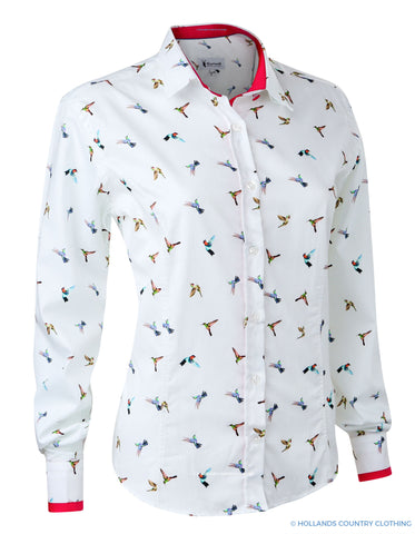 Hartwell Layla Cotton Shirt | Magical Hummingbirds