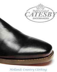 black leather toe cap Catesby Black  All Leather Dealer / Chelsea Boot