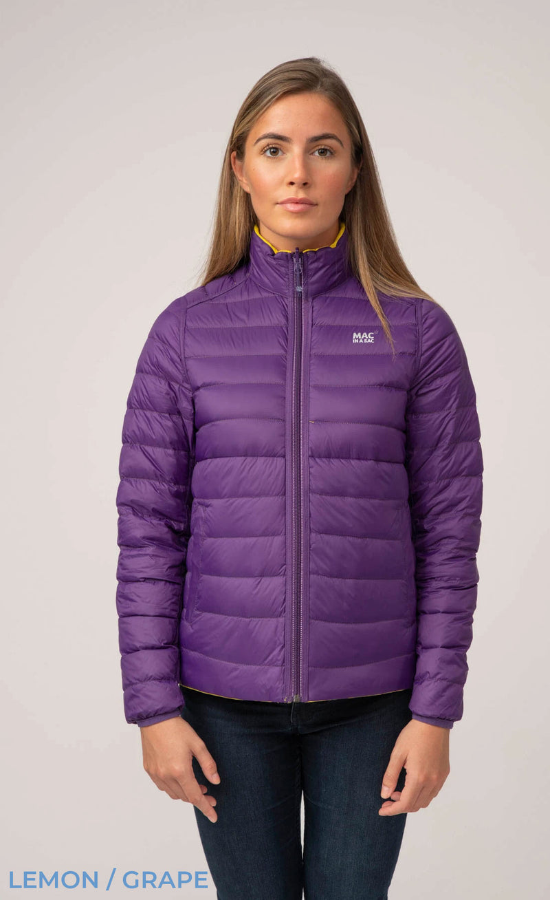 Grape Mac In A Sac Women's Packable Polar Down Jacket
