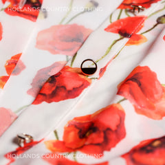 Hartwell ladies flower print poppy