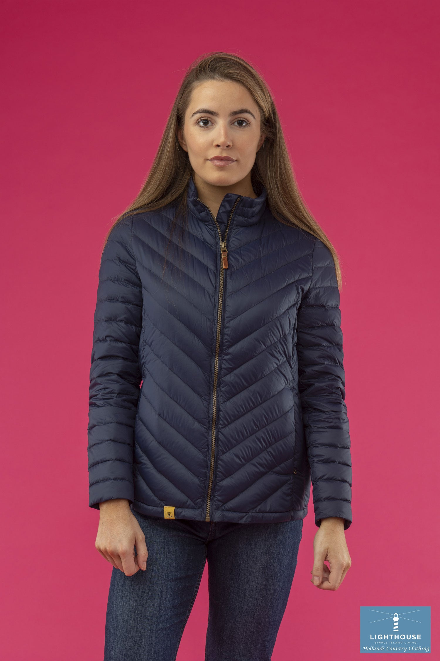 Ladies Lighthouse Lara Down Jacket Navy