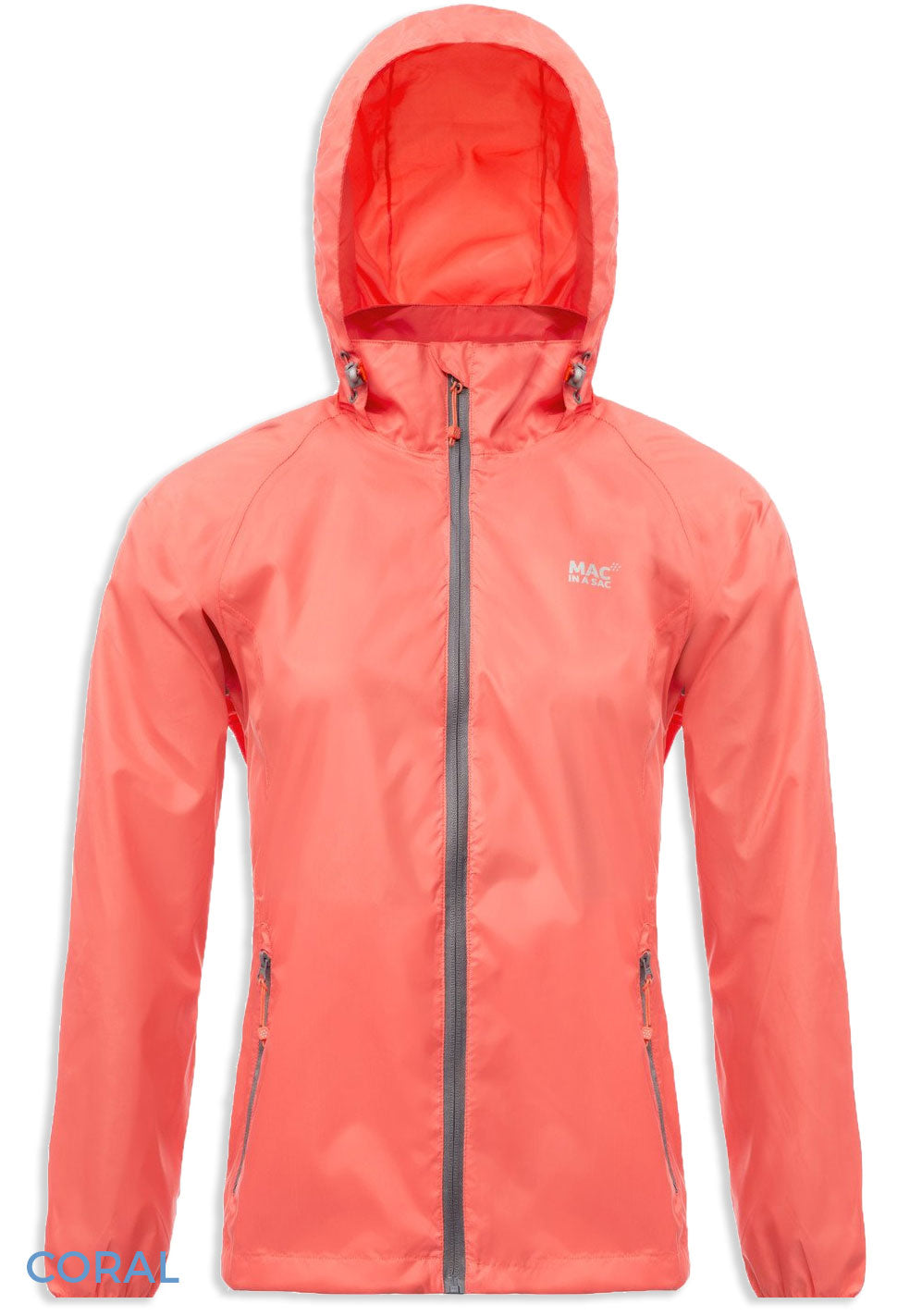 Hooded Coral Packaway Waterproof Jacket by Lighthouse
