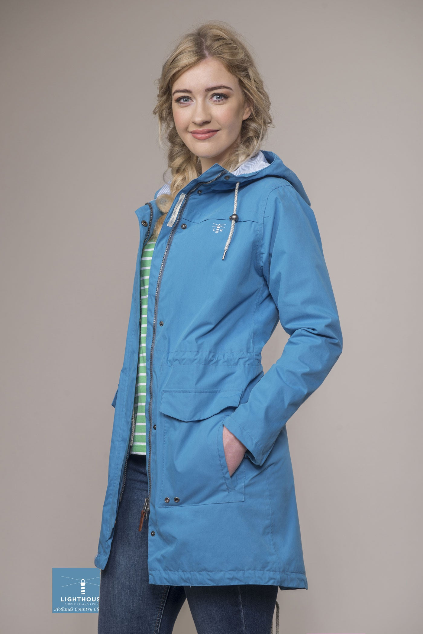 Blue Sail Paige Ladies Mid Length Waterproof by Lighthouse