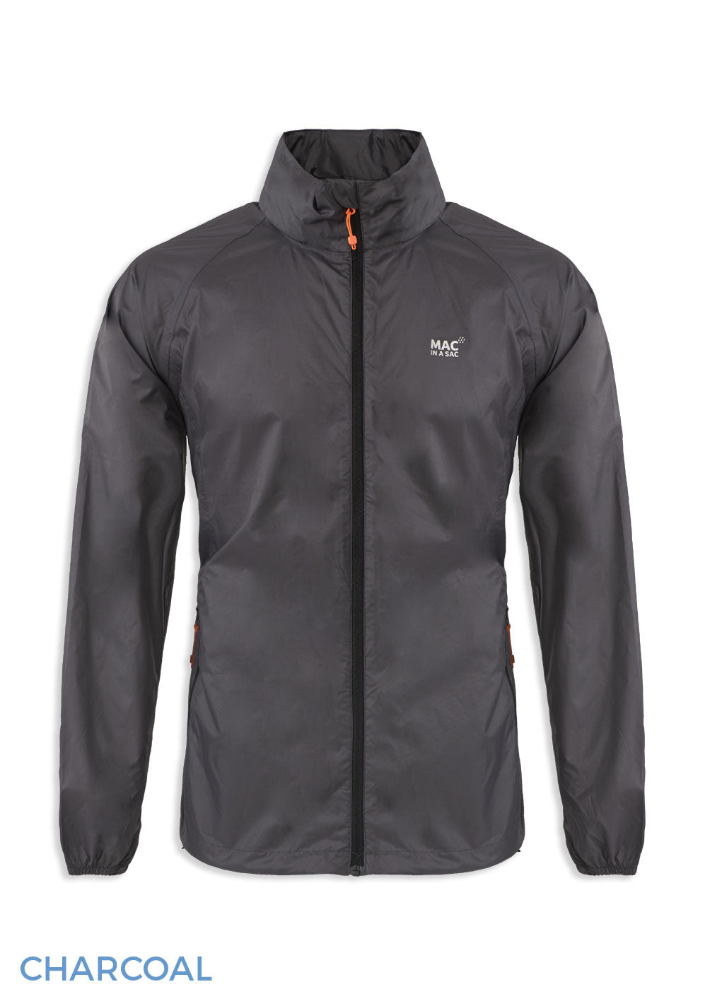 Charcoal grey Packaway Waterproof Jacket by Lighthouse