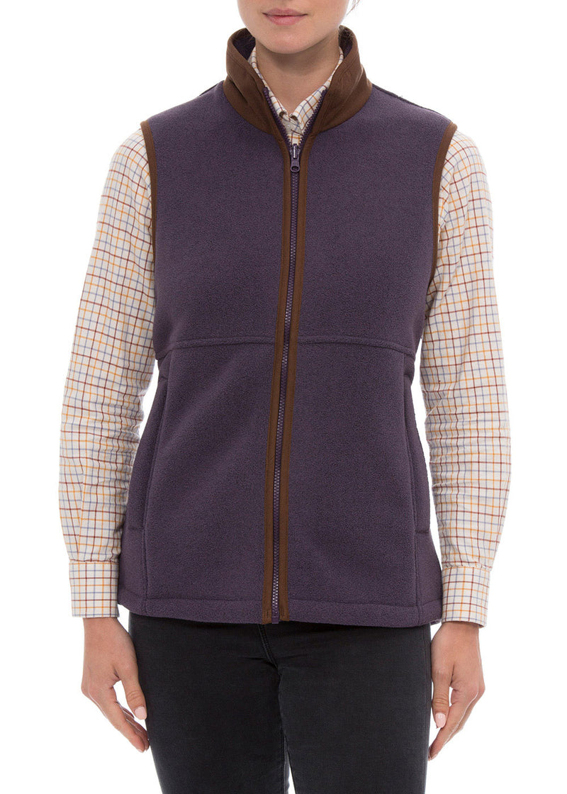 woman wearing Alan Paine Aylsham Fleece Gilet | Lilac