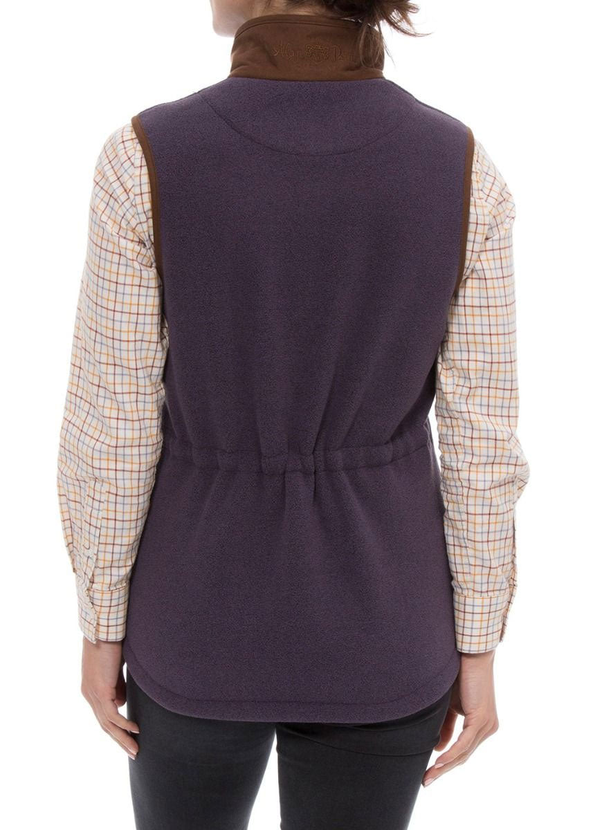 rear view Alan Paine Aylsham Fleece Gilet | Lilac