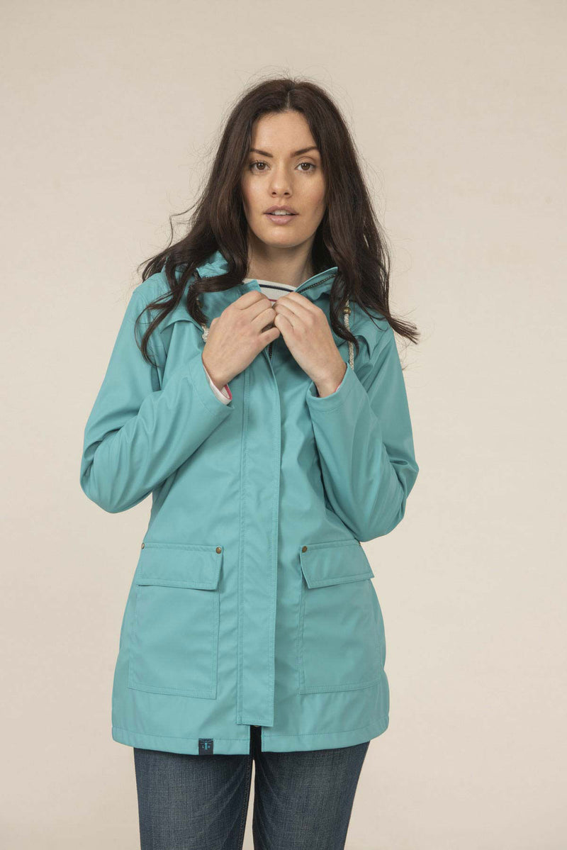Soft Teal Lighthouse Bowline Rubberised Jacket SS19
