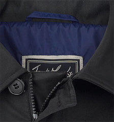 collar detaiil Jack Murphy Patrick Men's Waterproof Mac