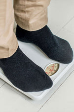 diabetic socks on a weighing scale