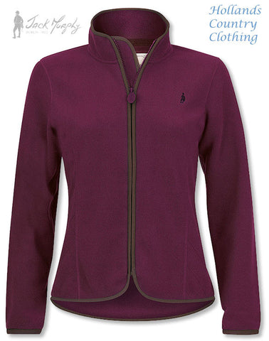 Jack Murphy Lottie Ladies Fleece Jacket. Three Colours; Roasted Aubergine,