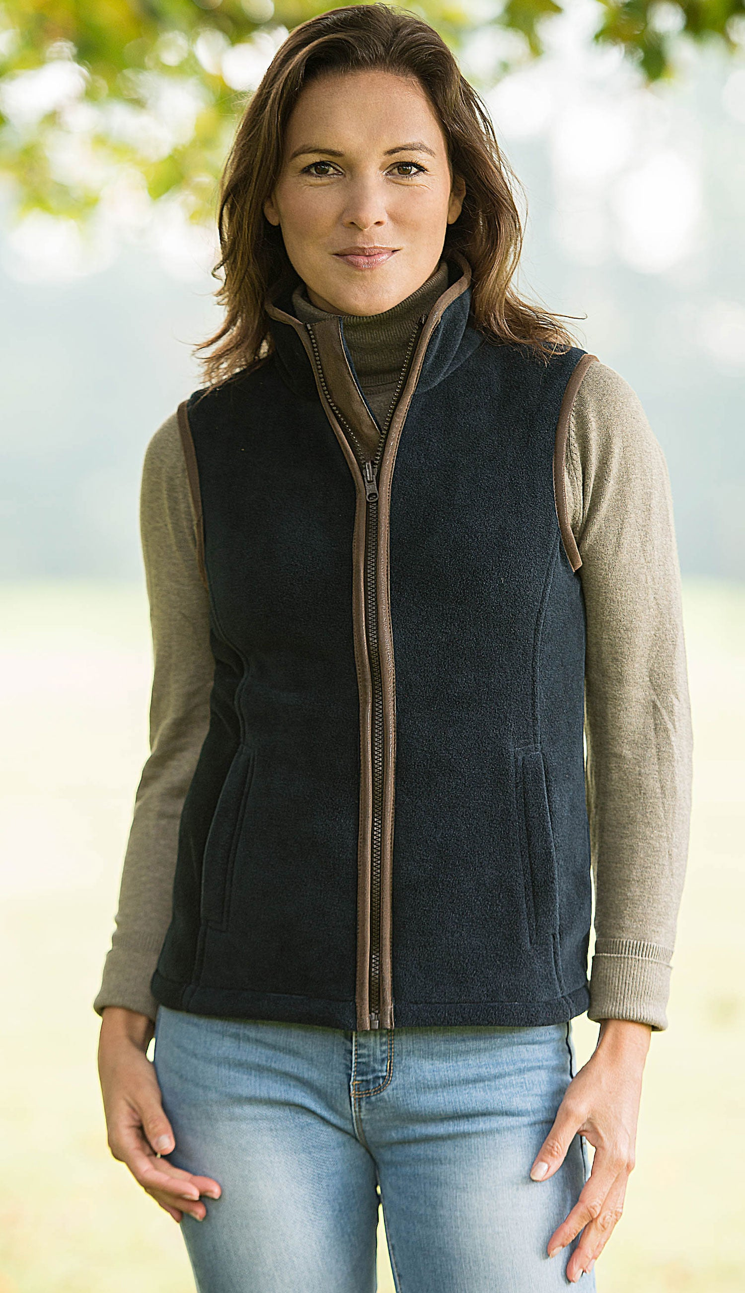 lady wearing Baleno Sally Ladies Fleece Gilet