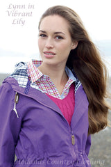 lady wearing Jack Murphy Lynn Ladies Waterproof Parka Coat	 lily