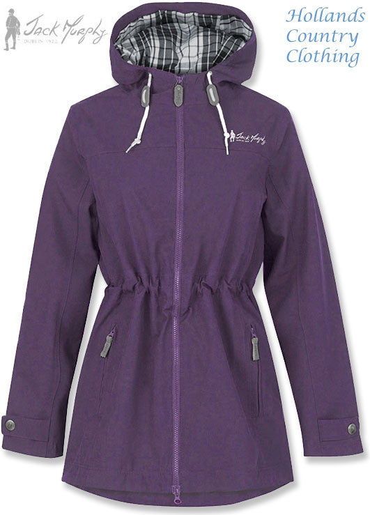 Jack Murphy Lynn Ladies Waterproof Parka Coat	in vibrant lily