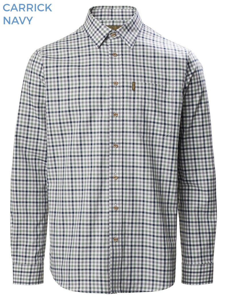 Musto Classic Twill Shirt | Carrick Navy Check