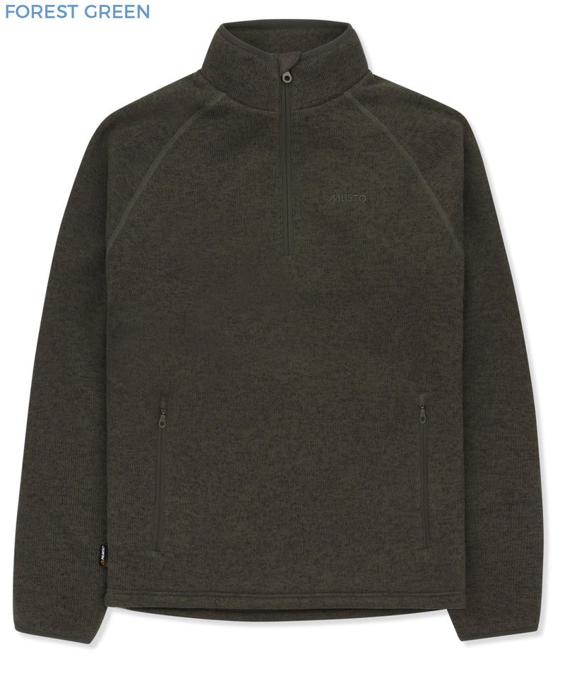 Musto Polartec Windjammer Half Zip Fleece | Forest Green