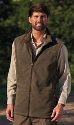 Man in a champion bonded micro fleece lined country gilet