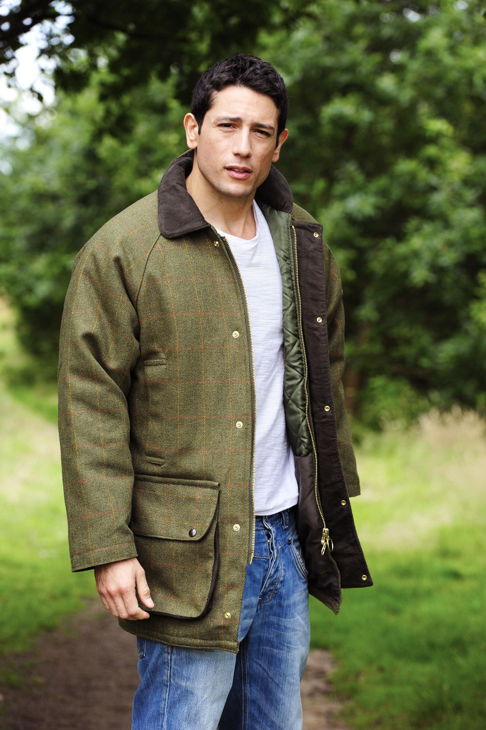 Derby Tweed Shooting Jacket by Bronte | Two Colours