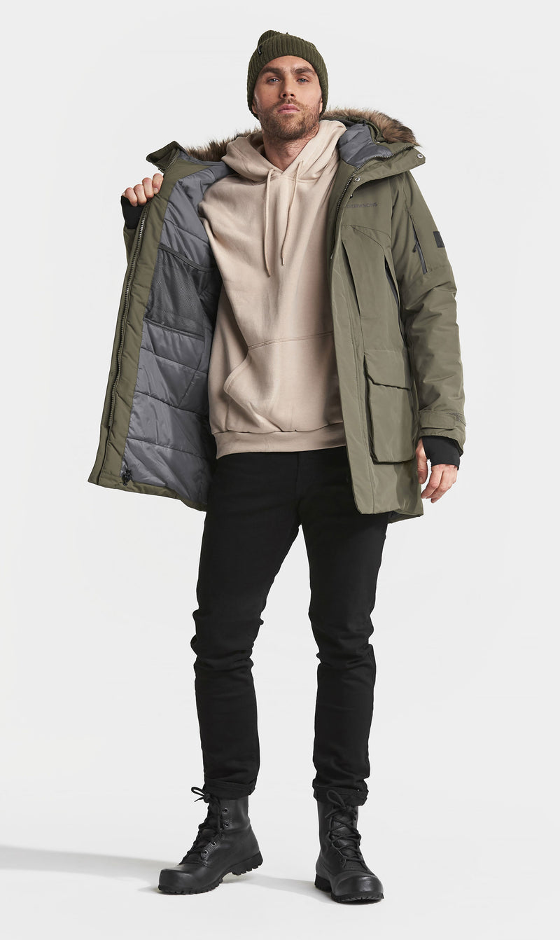 Showing lining Didriksons Marcel Padded Waterproof Parka