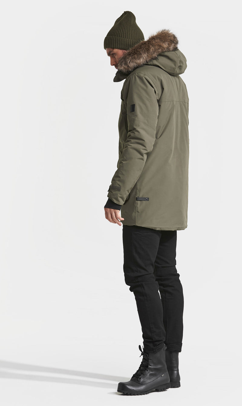 side view Didriksons Marcel Padded Waterproof Parka
