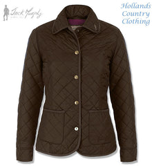heritage brown Jack Murphy Margaret Ladies Quilted Jacket