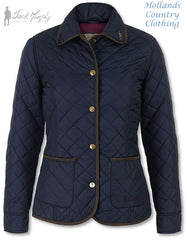 Jack Murphy Margaret Ladies Quilted Jacket navy