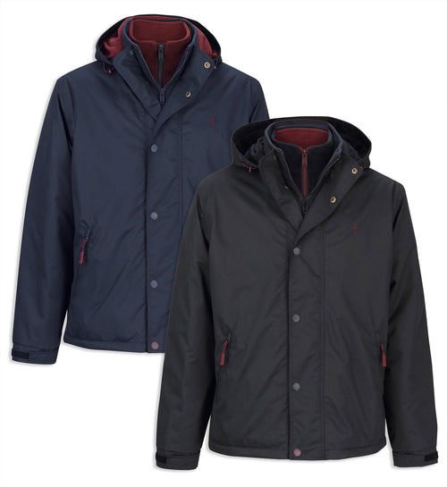 Jack Murphy Mark Waterproof Coat in black an navy